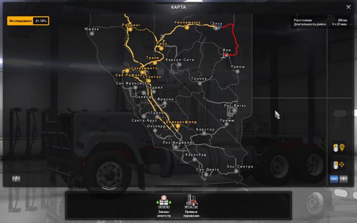 Изображение к русификатору American Truck Simulator (Города на русском)